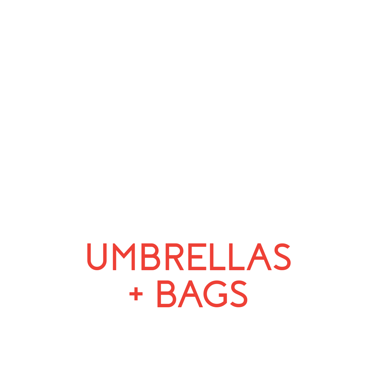 branded umbrellas and bags